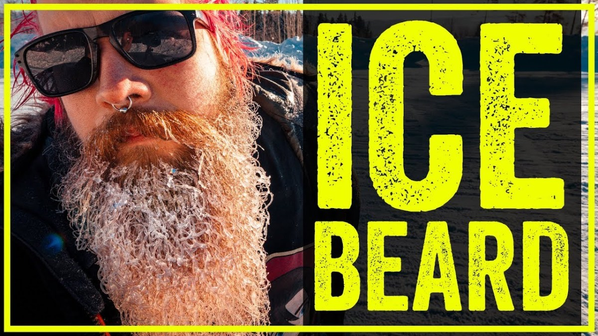 ICE BEARD in FREEZING cold weather - Frozen beard